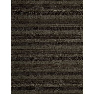Calvin Klein Rugs Sequoia Boucle Stripe Carbon Area Rug; 2'6'' x 4'