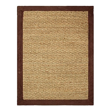 Chesapeake Seagrass Beige/Chocolate Area Rug; 3'4'' x 5'