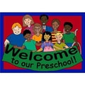 Joy Carpets Educational Welcome to Our Preschool Kids Mat; 2'1'' x 2'11''