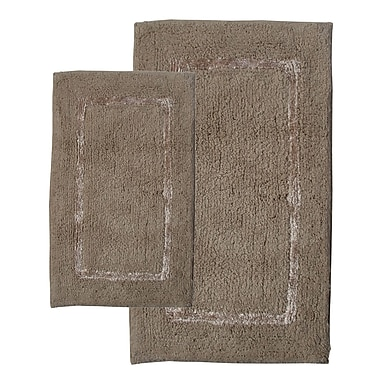 Chesapeake Greenville Bath Rug (Set of 2); Sand