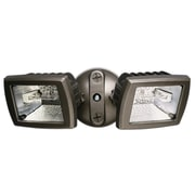 Cooper Lighting 300 Watt Halogen Twin Head Floodlight; Bronze