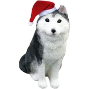 Sandicast Siberian Husky Christmas Ornament