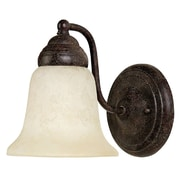 Capital Lighting One Light Wall Sconce with Rust Scavo Glass Shade in Tortoise