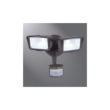 Cooper Lighting Motion Security 3 Head LED Outdoor Floodlight; Bronze