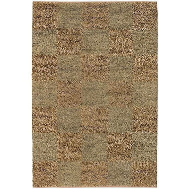 Chandra Strata Brown/Tan Area Rug; Round 7'9''
