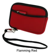 rooCASE Neoprene Sleeve Carrying Case for Digital Camera; Flamming Red