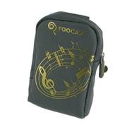 rooCASE Fashion Nylon Padded Carrying Case; Music Grey