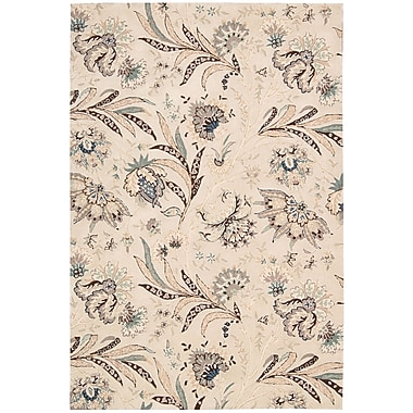Nourison Gatsby Ivory Floral Area Rug; 3'9'' x 5'9''