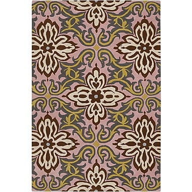 Chandra Amy Butler Gren/Pink Temple Area Rug; 7'9'' x 10'6''