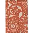 Chandra Contemporary Designer Orange Rug; 5' x 7'6''