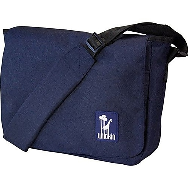 Wildkin Solid Colors Straight-Up Kickstart Messenger Bag; Navy Blue
