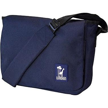 Wildkin Solid Colors Straight-Up Kickstart Messenger Bag; Navy Blue