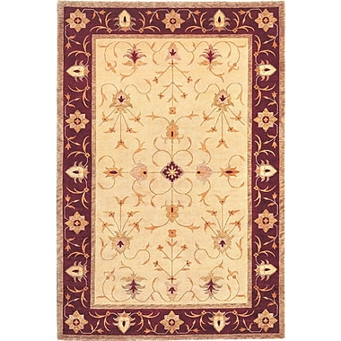 Abbyson Living Heiress Himalayan Sheep Gold Floral Indoor/Outdoor Area Rug; 4' x 6'