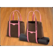 Crescent Moon Convertible Tote in Brown and Pink