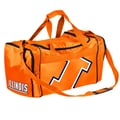 Forever Collectibles NCAA 11'' Travel Duffel; University of Illinois Fighting Illini