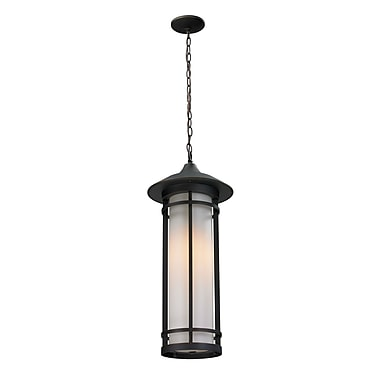Z-Lite Woodland 1-Light Outdoor Pendant; 24.5'' H x 10'' D
