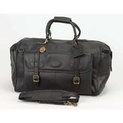 Claire Chase Millionaire's 24'' Leather Carry-On Duffel; Black