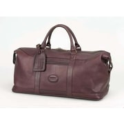 Claire Chase All American 20'' Leather Carry-On Duffel; Caf