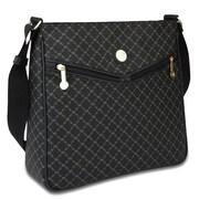 Rioni Signature Messenger Bag; Black