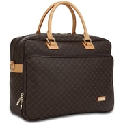 Rioni Signature Travel Carrier Laptop Briefcase; Brown