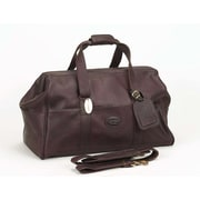 Claire Chase Luggage Vintage 15'' Leather Carry-On Duffel; Caf