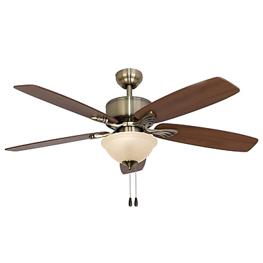 Calcutta 52'' Northport Bowl Light 5 Blade Ceiling Fan