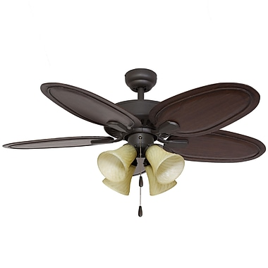 Calcutta 52'' Habana 4 Light 5 Blade Ceiling Fan