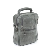 Claire Chase Medium Man Shoulder Bag; Distressed Grey