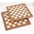CHH Chess Board in Brown & White; 17'' x 17''