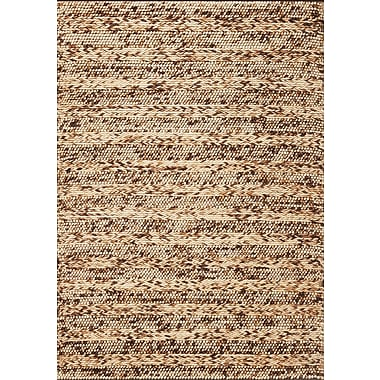 KAS Rugs Cortico Coffee Heather Rug; 5' x 7'