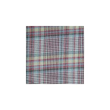 Patch Magic Maroon Red and Black Plaid Lines Bed Curtain Panels (Set of 2)