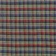 Patch Magic Tan and Blue Plaid Red Pink Line Cotton Throw Pillow