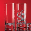 Home Essentials Red Series 17 oz.. Bubble Hiball Glass (Set of 4)