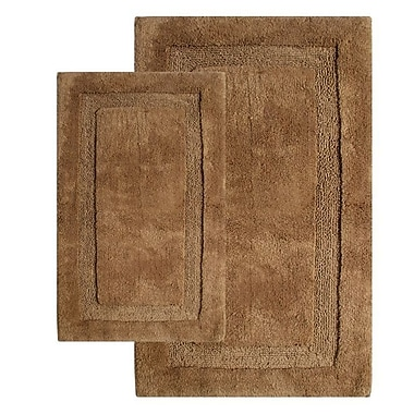 Chesapeake Olympia Contemporary Bath Rug (Set of 2); Linen