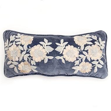Debage Inc. Plush Flowers Boudoir Pillow; Blue