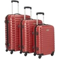 McBrine Luggage 3 Piece Luggage Set; Red