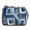 Patch Magic Blue Log Cabin Shoulder Bag