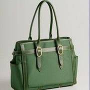 Coakley Contemporary Classic Nylon Travel Tote; Leaf Green