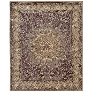Nourison 2000 Brown/Red Area Rug; Oval 7'6'' x 9'6''