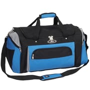 Everest 24'' Deluxe Sports Travel Duffel; Royal Blue/Light Gray/Blac