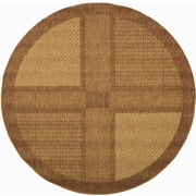 Safavieh Courtyard Large Boxes Outdoor Rug; Round 6'7''