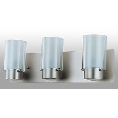 DVI Essex 3 Light Vanity Light; Oil Rubbed Bronze with Half Opal Glass Shade