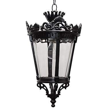 Melissa Tuscany 1 Light Outdoor Hanging Lantern; Old Iron