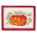 Couleur Nature Pumpkin Placemat (Set of 6); Red and Green