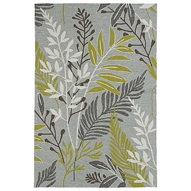 Kaleen Home and Porch Hand-Tufted Wasabi Green/Grey Indoor/Outdoor Area Rug; 9' x 12'