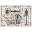 Custom Printed Rugs Home Accents Bird Houses Novelty Rug; 37'' x 52'' x 0.125''