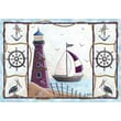 Custom Printed Rugs Home Accents Lighthouse Novelty Rug; 37'' x 52'' x 0.125''