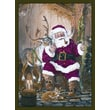 Custom Printed Rugs Home Accents Santa and Reindeer Novelty Rug; 37'' x 52'' x 0.125''