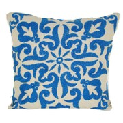 Design Accents Damascus Linen Throw Pillow; Turquoise