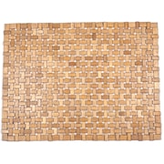 Entryways Roosevelt Exotic Wood Mat  -Brown 18x30